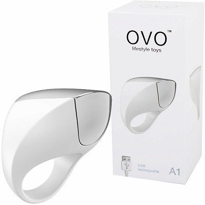 OVO A1 RECHARGEABLE RING (WHITE CHROME)